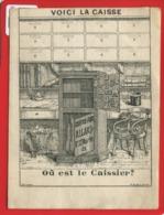 Rare Chromo Image Devinette Optique Voici La Caisse Caissier Lanery Paris Coffre Fort Allard Bd St Martin - Otros