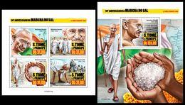 S. TOME & PRINCIPE 2020 - M. Gandhi, Salt March. M/S + S/S. Official Issue [ST200214] - Mahatma Gandhi