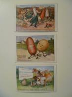Lot De 3 Cartes Postales Anciennes Publicitaires / Potasse D'Alsace Légumes - Advertising