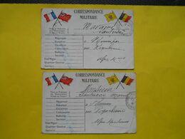 Militaria ,2 Cp Correspondance Militaire ,famille Santucci - Militaria