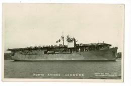 """Carton Photo Format Carte Postale - Porte-Avions """" Dixmude""""  Circulé Sans Date, Sous Enveloppe - Oorlog"""