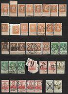 75 Timbres De L'émission Pellens 1912 Diverses Oblitérations, Annulations Et Marques De Quittance (Nic 065) - 1912 Pellens