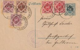 Allemagne Wurtemberg Entier Postal De Service 1922 - Germany