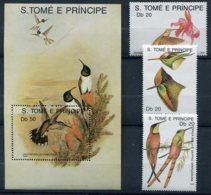 S.Tomé E Principe  Oiseaux   943/945 ** + Bloc 65 ** - Hummingbirds