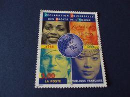 """1999- Oblitéré N° 3208    """" Déclaration Des Droits De L'homme""""   Net   0.80   """"   Cozes , 17  """" - Used Stamps"""