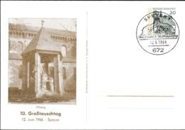 Germany Postal Stationary Sehenswürdigkeiten W/print 10. Grosstauschtag In Speyer 1966 - Used (G113-22) - Expositions Philatéliques