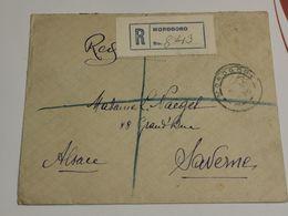 Leter, Recommandée Morogoro Avec Stamp Tanganyika 1922 Giraffe 30c. 2scan - Kenya, Uganda & Tanganyika