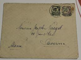 Leter,  Avec Stamp Tanganyika 1922 Giraffe 25c Et 5c . 2scan - Kenya, Uganda & Tanganyika