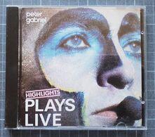 CD PETER GABRIEL PLAYS LIVE - Rock