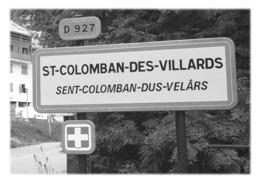 SAINT-COLOMBAN-DES-VILLARDS - Panneau Entrée - Sonstige Gemeinden