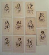 CPA / Lot De 11 Cartes Postales Anciennes Publicitaires / Collection Femmes Célebres PETROLE HAHN - Reclame