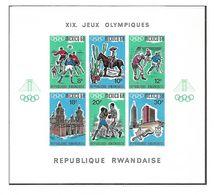 COB N° BL 11 Jeux Olympique De Mexico  Non Dentelé Côte 27.50€ XX MNH - Ruanda