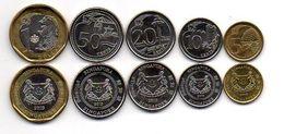Singapore - Set 5 Coins 5 10 20 50 Cents 1 Dollar 2013 UNC Lemberg-Zp - Singapore