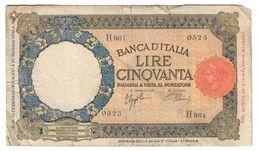 Italy 50 Lire 13/02/1943 - [ 1] …-1946 : Reino
