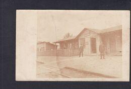 Rare Carte Photo Pologne Łaskarzew Bahnhof Laskarschew  (Guerre 14-18 Gare Chemin De Fer 42648) - Poland