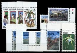 1985, Dominica, 910-13 U.a., ** - Dominica (1978-...)