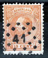 NEDERLAND   1872  15c  PUNTSTEMPEL 41 - Used Stamps