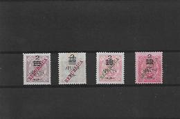 """Macau. 1913. Local """"Republica"""" Ovptd. Provisional. Choi 182/5 (x). Complete Set Of 4. Fine Mint. VF 1997 Cat. HK$ 400. - Macao"""