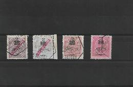 """Macau. 1913 (Oct) Choi 182/5º. D. Carlos Local """"republica"""" Provisional. Complete Used Set. 1997 HK$ 160 - Macao"""