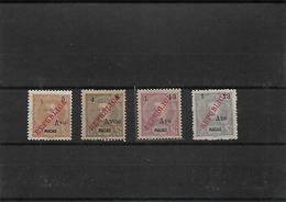 """Macau. 1913 (Oct) Choi 198/201(x). D. Carlos """"Republica"""" Complete Mint Set. 1997 Cat. HK$ 3,100. XF. - Macao"""