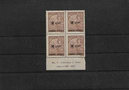 Macau. 1941-2. Choi 321xx (x4) 2a / 6a. Cinnamon. Block Of Four Margin Border With INSCRIPTION Full Orig Gum. XF. - Macao