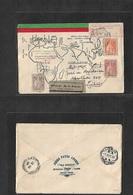 Macau. 1933 (12 Sept) GPO - Lisbon, Portugal (10 Ct) Via Singapore (13 Sept) First Comm Anniv Cachet On Airmail Register - Macao