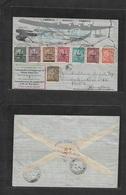 "Macau. 1937 (5 May) GPO - Hong Kong (6 May) Commemorative Flight. Multifkd Envelope, Arrival ""K10"" Cachet. VF Type. - Macao"