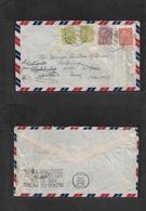 """Macau. 1948 (13 Apr) GPO - UK, Devon, Exton (24 Apr) Air Multifkd Envelope, With Special Better Air Cachet """"PAR AVION /  - Macao"""
