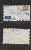 Macau. 1951 (20 Nov) GPO - Brazil, Sao Paulo, Registered Air Multifkd Envelope. VF. - Macao