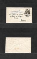 """Macau. 1957 (15 Nov) Macau Local Circulated Fkd Env With Violet Cachet """"Contribua Para O Fundo Destinado Ao Natal Dos Po - Macao"""