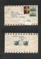 Macau. 1977 (1 July) GPO - Brazil, S. Paulo. Registered Air Multifkd Front + Reverse Envelope. VF. - Macao