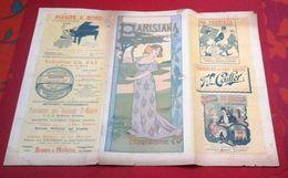 Programme Parisiana 24 Au 26 Décembre 1902 Café Concert Bvd Poissonnière Directeur Charles Isaac Augusta Pouget Vaunel - Programmi