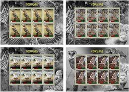 GUINEA BISSAU 2020 - Owls, 4 M/S. Official Issue [GB200203d] - Búhos, Lechuza