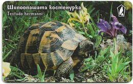 Bulgaria - Mobika (chip) - Testudo Hermanni Turtle - Exp.07.2001, 400Units, 40.000ex, Used - Bulgaria