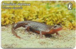 Bulgaria - Mobika (chip) - Triturus Alpestris - Exp.04.2002, 100Units, 50.000ex, Used - Bulgaria