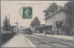 Devecey , Train En Gare , Animée - Francia