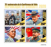DJIBOUTI 2020 - Yalta: Winston Churchill, M/S. Official Issue [DJB200106a] - Sir Winston Churchill
