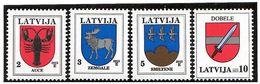 Latvia 2013 . COA Of Towns 2013. 4v: 2, 3, 5, 10. - Lettonie
