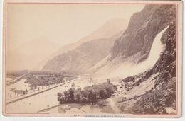 OLD  PHOTO - 1890'S - SWITZERLAND - SUISSE - CASCAGE DE PISSEVACHE - VALAIS - 16 X 11 CM - VS Valais
