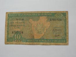10 Francs 1986   Banque De La République Du BURUNDI  **** EN ACHAT IMMEDIAT **** - Burundi