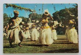 Carte De Voeu Danseuses Tahitiennes Tahiti Papeete 1966 Polynésie Française Vahiné - Französisch-Polynesien