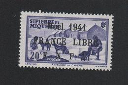 Faux Saint-Pierre Et Miquelon N° 213 (B) 20 C Gomme Sans Charnière - St.Pierre Et Miquelon