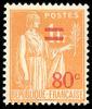 France Type Paix N°  359 ** Le Surchargé 80c Sur 1F Orange - 1932-39 Peace