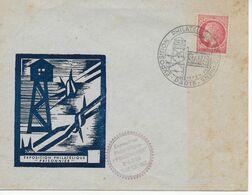 """Enveloppe-souvenir Exposition """"PRISONNIERS"""" Du 15 Au 19 Février 1946 à PARIS, Illustration STALAG - Postmark Collection (Covers)"""
