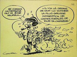 Illustration Laudec Retraité Heureux  Pipe   Cartes Postales  Tirage Exceptionnel - Poste & Facteurs