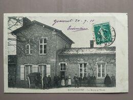 CPA - Matignicourt (51) - La Mairie Et L'ecole - Sonstige Gemeinden