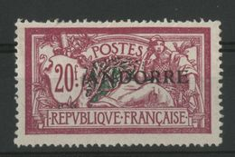 ANDORRE N°23 COTE 435 € NEUF * (MH) 20 Fr MERSON (dent Courte En Haut) - Unused Stamps
