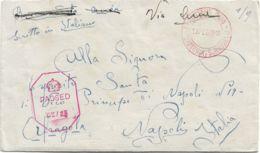 1946 P.O.W.CAMP N.5 Manoscritto Al Verso Di Busta Via Aerea (13.2) Da Internato Italiano In Rodesia - 5. 1944-46 Luogotenenza & Umberto II