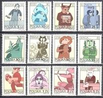 Poland 1996 - Signs Of The Zodiac- Mi 3562,63,67-70,97,98,3603,09,10,12 X - MNH(**) - 1944-.... República