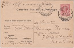 1916 POSTA MILITARE/DIVISIONE 33 C.2 (4.8) Su Cartolina Franchigia Affrancata Leoni C.10 - 1900-44 Victor Emmanuel III